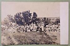RPPC Apple Cherry Farm Fruit Picker Family Women Children Vintage Photo Postcard