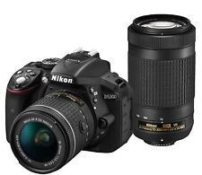 Nikon D5300 DSLR Camera AF-P Double Zoom Kit Black EMS w/ Tracking NEW