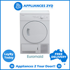Euromaid CD6KG 6 KG 60cm Condensor Clothes Dryer Drying Front Load White Vented