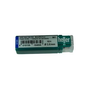 Heller 2.5mm HSS-R Twist Metal Drill Bits 10 Pack Rolled HSS Jobber German Tools