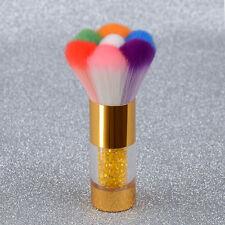 Nail Art Dust Powder Cleaning Brush Rhinestone Handle Manicure Tool Multi-color