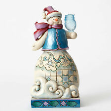 Jim Shore Wonderland Snowman w/Owl Figurine ~Our Friendship Never Melts~ 4053673