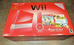 BOXED NINTENDO Wii 25th Anniversary Limited Red Super Mario Console System