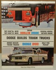 DODGE 65 67 DIESEL TRACTOR TRUCK PICKUP BOYS MATCH BOOK COVER MOPAR DEALERSHIP