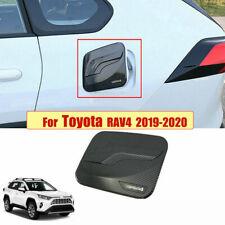 Carbon Fiber Style Fuel Oil Tank Gas Cap Cover Trim For Toyota RAV4 2019 2020