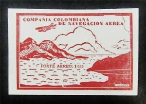 nystamps Colombia Unlisted Stamp Mint Signed F26y376