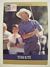 TOM KITE signed 1990 Pro Set PGA golf card AUTO Autographed TEXAS LONGHORNS 6 TX