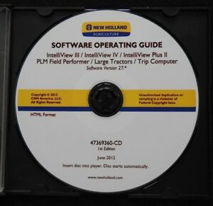 NEW HOLLAND INTELLIVIEW II III IV PLM LARGE TRACTOR TRIP COMPUTER SOFTWARE OPER