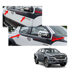 Side Molding Exterior Window Black Red 4Pc Fit Chevrolet Holden Colorado 2017 +