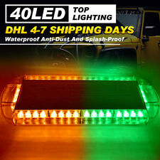 "22"" 40 LED Strobe Light Bar Hazard Emergency Warning Response Amber Green Lamp"
