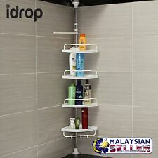 CRAZYBOSS idrop 4 Layer Corner Shelf Toilet Kitchen Extendable Adjustable Rack