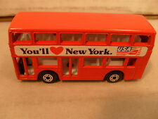 1981 MATCHBOX SUPERFAST MB17 LEYLAND TITAN LONDON BUS YOU'LL LOVE NEW YORK NEW