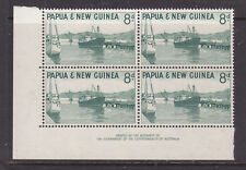 PNG  1961-63 8d PICTORIAL IMPRINT BLOCK OF 4  MUH