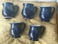 DENBY BAROQUE CRAFTSMANS MUGS X 5