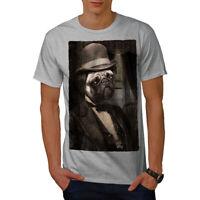 Wellcoda Sir Pug Cute Funny Dog Mens T-shirt, Puppy Graphic Design Printed Tee