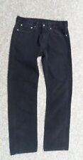 Levis 505 Black Denim Jeans W34 L34 Zipper Fly