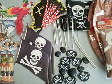 Pirate Birthday Party Supplies Table/Wall Decorations,Eye Patches,Treasure Chest