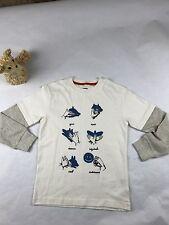 Boy's Gymboree S'more Style sign language long sleeve shirt SZ/7