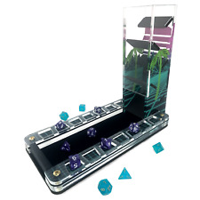 C4Labs Deluxe Dice Tray and Retro 80's Dice Tower Set - Synthwave