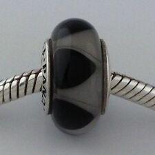 AUTHENTIC PANDORA #790640 CAPTIVATING BLACK MURANO GLASS BEAD BRAND NEW RETIRED
