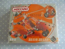 MECCANO DESIGN 2 SET 5700 - 5 MODELS INCL HELICOPTER 223 PIECES STILL SEALED
