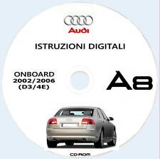 AUDI A8 (4E) uso manutenzione + MMI.istruzioni uso in Italiano.