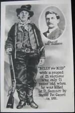BILLY THE KID~ American Old West Outlaw and Gunfighter~Sheriff PAT GARRETT~ RPPC