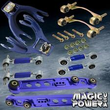 Civic 92-95 Front Rear Camber Kit + Lower Control Arm Toe Arm Bushing Kit Blue