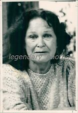 1988 Portrait of Actress Colleen Dewhurst Original News Service Photo