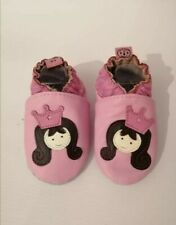 soft leather baby shoes, nursery shoe, suede sole pram shoes 0-6 MTHS
