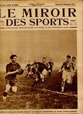 LE MIROIR DES SPORTS No. 288 DU 18 NOVEMBRE 1925 - RUGBY