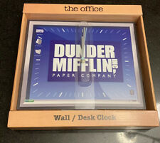 The Office Dunder Mifflin Wall Desk Clock Dwight Schrute New In Box
