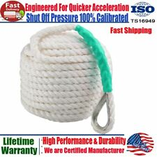 1/2 Inch 200Ft Twisted 3 Strand Nylon Anchor Rope Braided Boat Sailboat Dockline