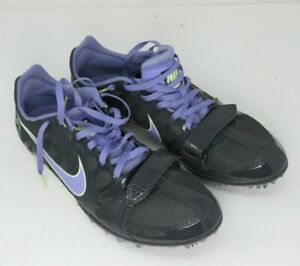 Nike Womens Zoom Rival S 6 Sprint Shoes Spike Size 8.5 US Gray Purple 456811 053