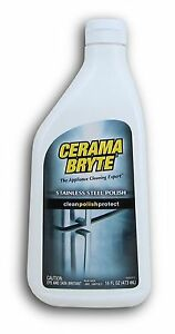 Cerama Bryte Stainless Steel Cleaning Polish with Mineral Oil Polishes