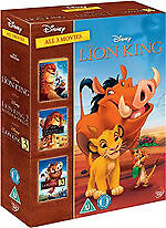 The Lion King 1+2+3 Trilogy (Disney 3 Discs) New R4