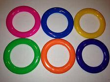 12 - Carnival Cane Rack Rings - Toss Soda Liquor School Party Ring Plastic Throw