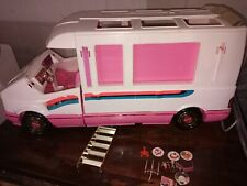 Vtg 1992 Barbie Golden Dream Motor Home Camper Rv Van Playset Mattel 1988 gold 1