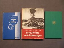 3 Bücher, Erdbebenkunde, Erdbeben, Lavaströme, Feuerberge, Ascheregen