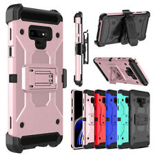 Hybrid Belt Clip Holster With Stand Hard Phone Case for Samsung Galaxy Note 9/8