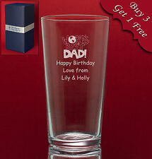 Personalised Engraved Pint Glass-Fathers Day Usher Best Man Groomsman Gift