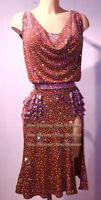 L3888 ballroom Rhythm salsa Latin samba swing dance dress uk 8 US 6