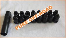Honda Pioneer 1000 Black Lug Nuts 12mm x 1.5 (Set of 16) w/ Socket 12x1.5