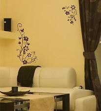 Wandtattoo Wandaufkleber Einfarbig Blumenranke - Motiv: E001 Floral
