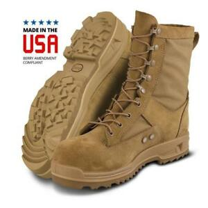 Altama US Air Force Hot Weather Safety Toe Boots Coyote Brown USA Made