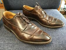 Gravati Brown Leather  Split Toe Oxford Lace Up Dress Shoes Size 9 M