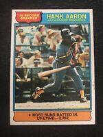 1976 Topps Hank Aaron Milwaukee Brewers #1 Baseball Card