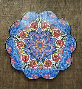 Floral Colourful Decorative Ceramic Trivet Tile Ottoman Hot Plate Stand Protect