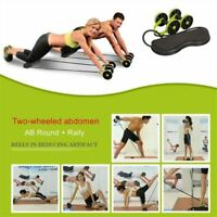 Muscle Exercise Equipment Fitness Double Wheel Abdominal Roller Trainer Training