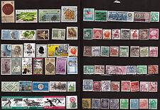 ALLEMAGNE 75 timbres oblitérés sujets divers , faciale en DM 112T4